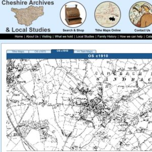 Cheshire Archives Maps