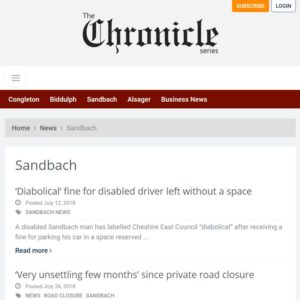Chronicle Series newsapaper