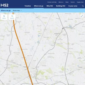 High Speed 2 (HS2) Rail map