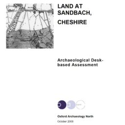 Land at Sandbach, report