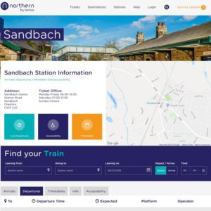 Northern Rail Sandbach
