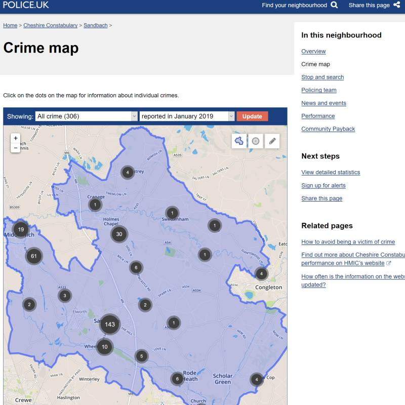 Police Crime map