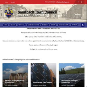 Sandbach Town Council website