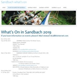 What's On in Sandbach